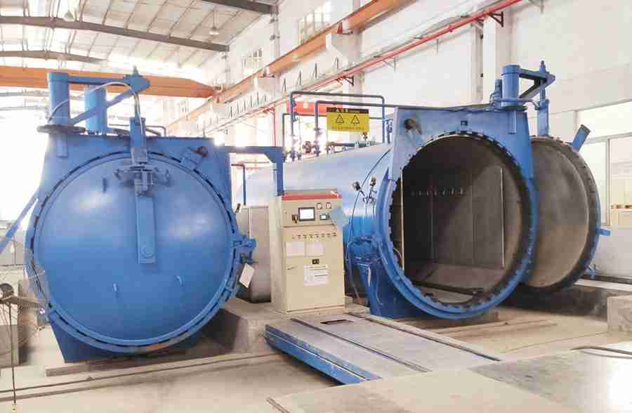 autoclave de alta presión, proceso de vidrio laminado, producción de vidrio laminado de seguridad, vidrio de seguridad laminado de alta calidad