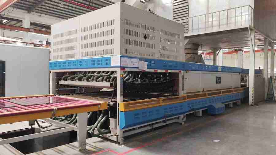 Curved toughened glass machines