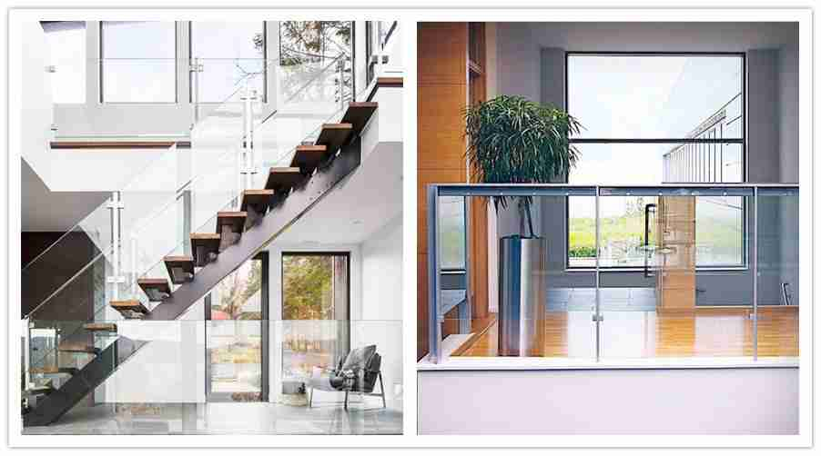 12mm thick toughened glass railing
