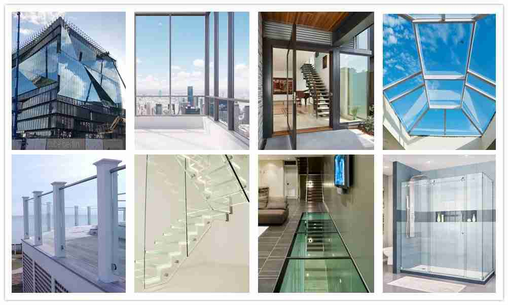laminated glass floor, laminated glass facade, laminated glass doors, safety skylight glass, laminated glass railing, stair glass, laminated shower doors