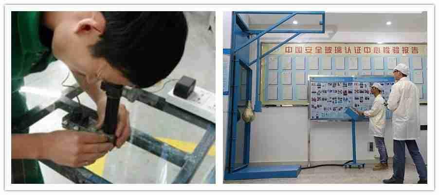 experiências de vidro laminadas, teste de vidro de segurança, experimentos de vidro de segurança, qualidade de vidro de segurança laminada