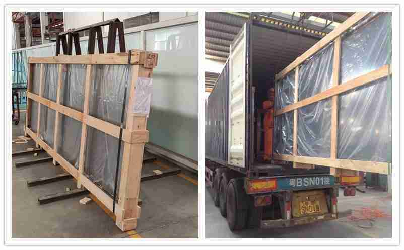 Strong plywood crate to make sure glass safety during long distance transportation.