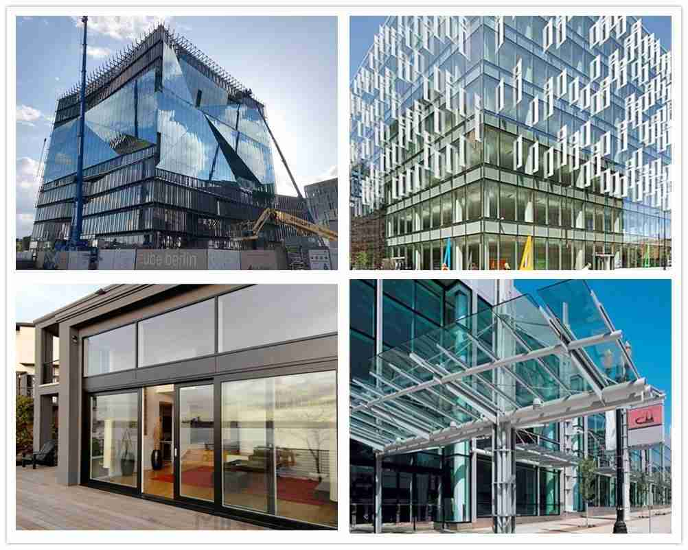 Heat strengthened glass applications