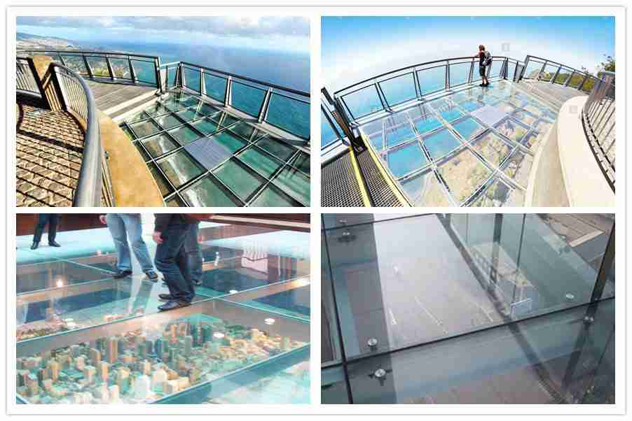 breathtaking laminated glass floor