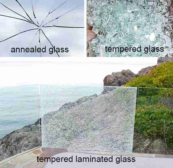 shenzhen dragon glass laminated tempered glass breakage with no harm to humans