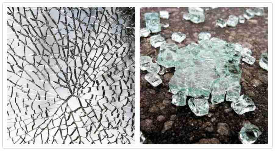 Karkaistu lasi rikkoutuminen