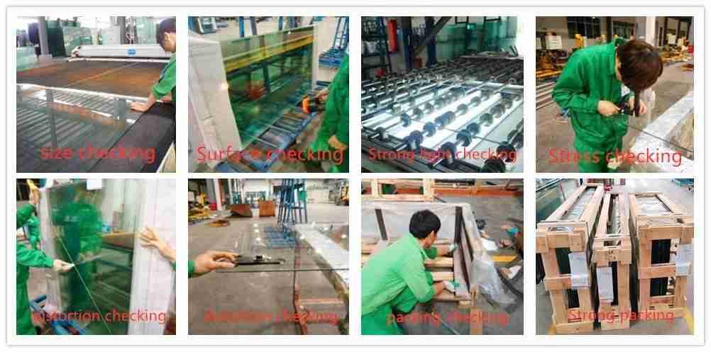Shenzhen Dragon Glass test de qualité pour le verre renforcé par la chaleur