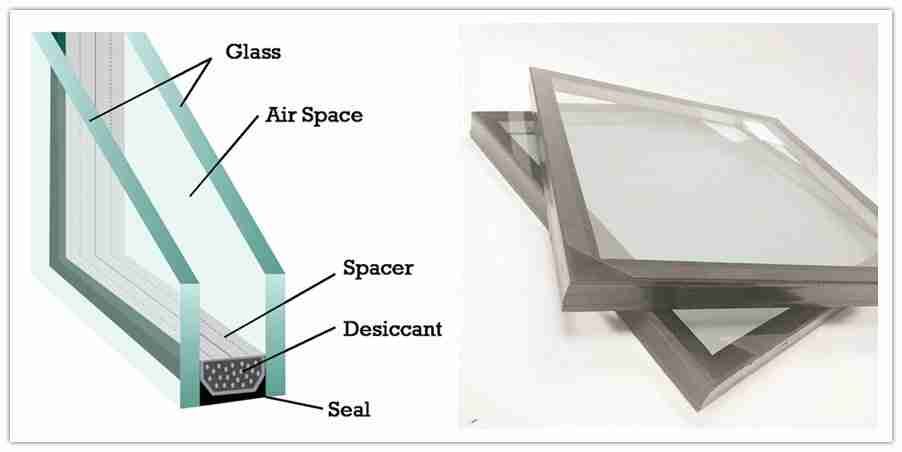 insulated glazing unit glass structure