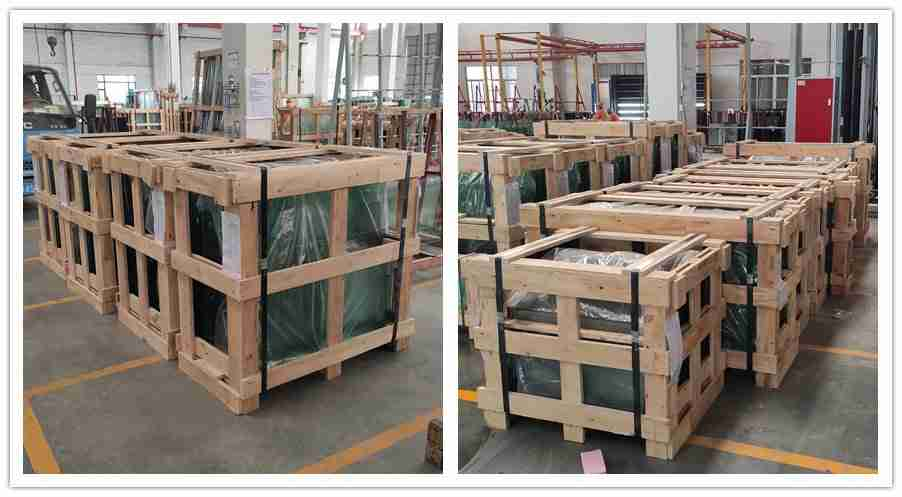 Strong plywood crates making sure safety shipment
