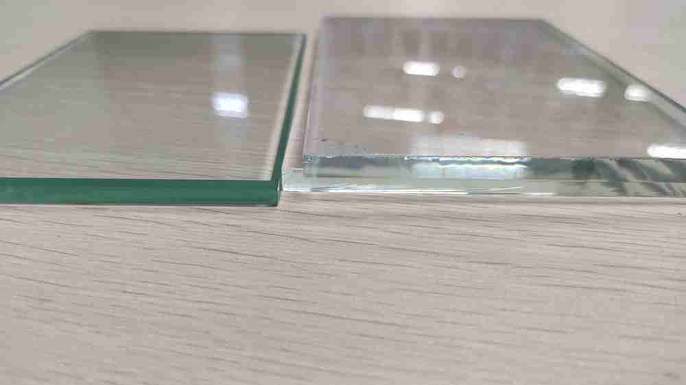clear glass VS low iron glass