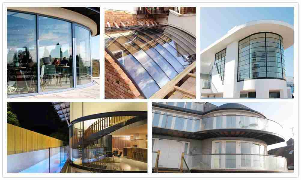 Curved glass windows designs