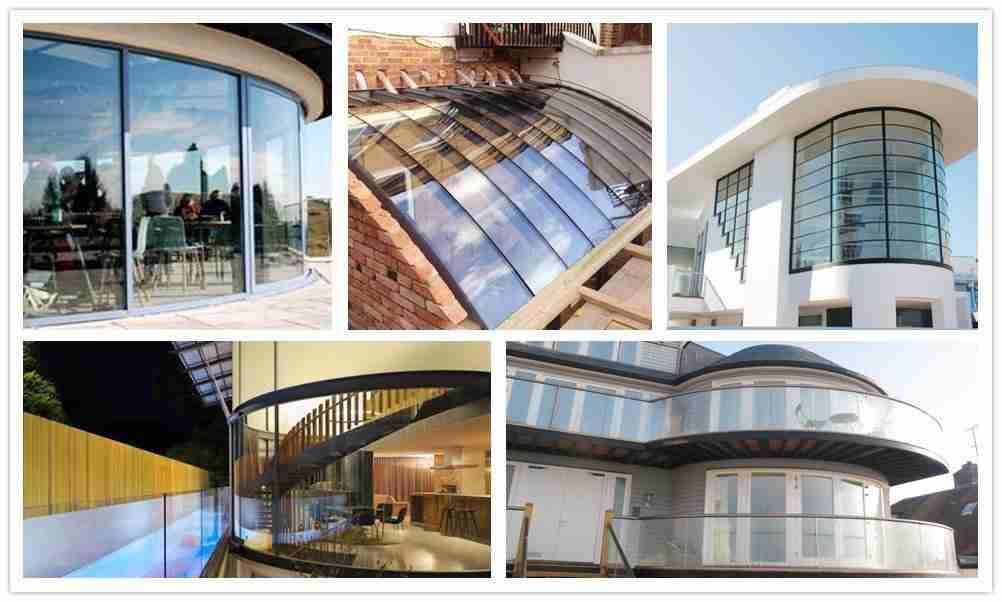 Conceptions courbes de fenêtres en verre