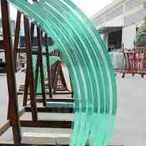 Shenzhen Dragon Glass low iron curved laminated glass