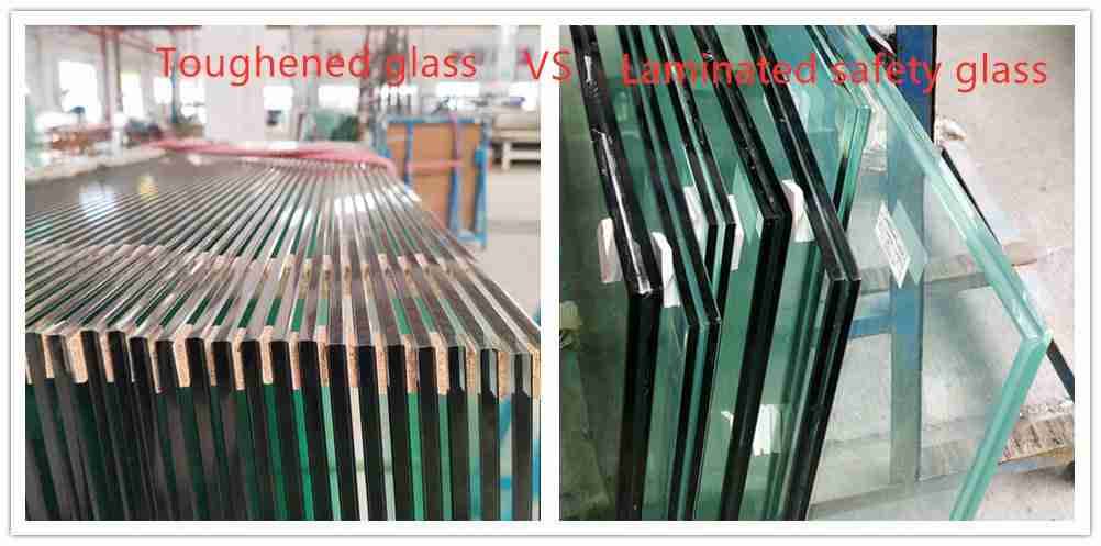 laminated tempered glass VS toughened glass