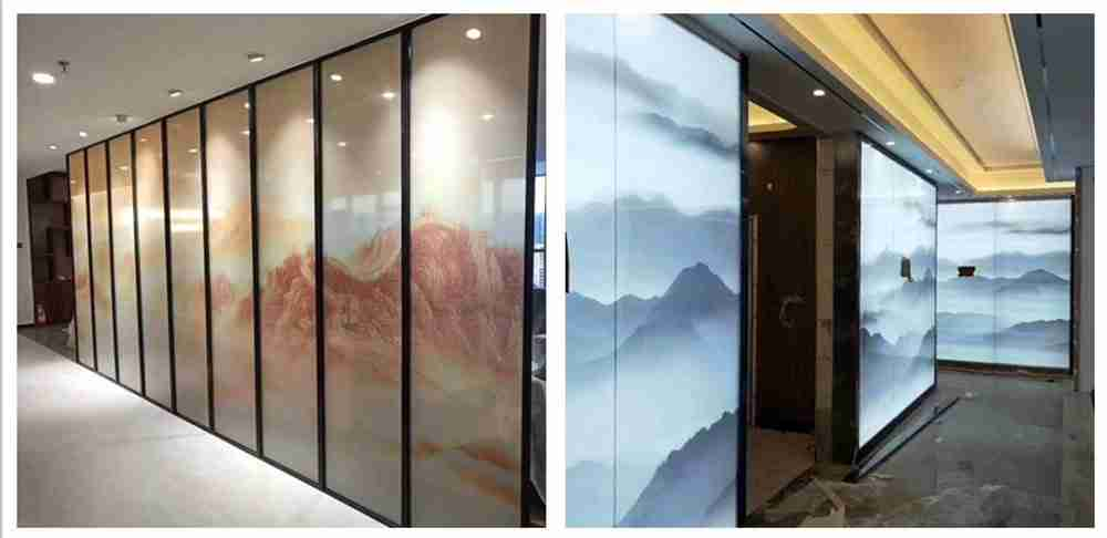 Shenzhen Dragon Glass offers competitive digital printing glass partition price