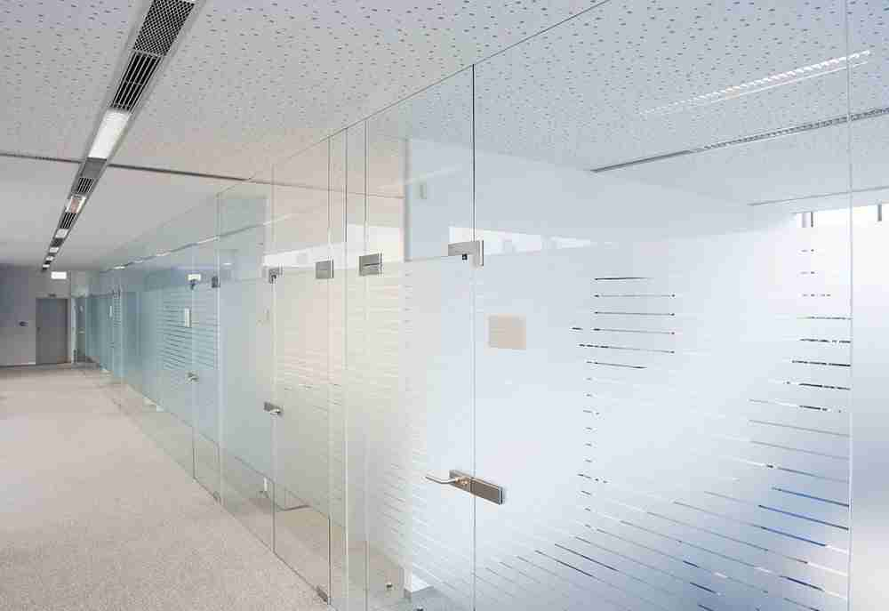 clear frosted tempered glass partition with good price