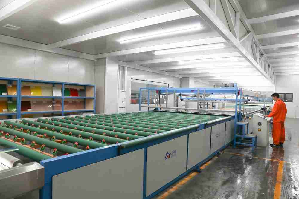 ceramic frit glass processing room