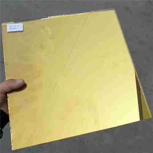 golden color heat reflective coating glass