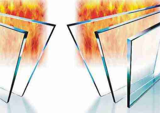 Single fire resistant glass panel
