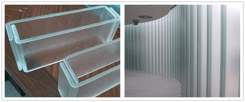 U channel glass with excellent design and performance