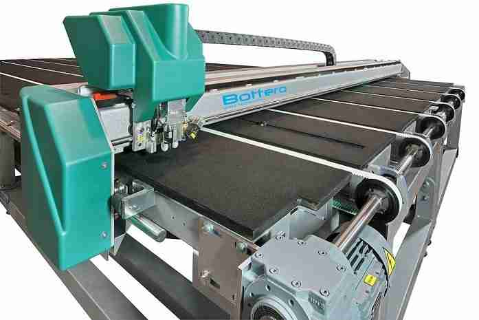Bottero glass cutting line
