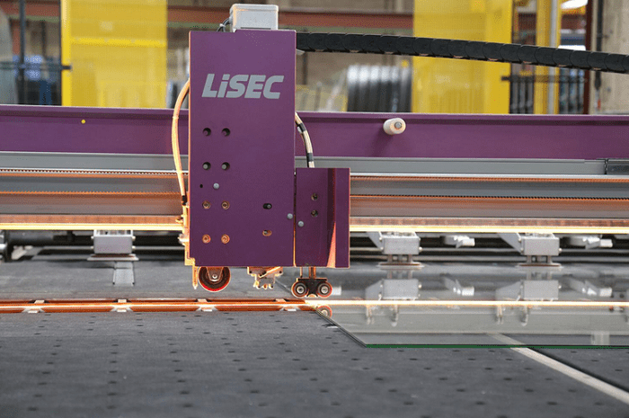 Lisec glass cutting line