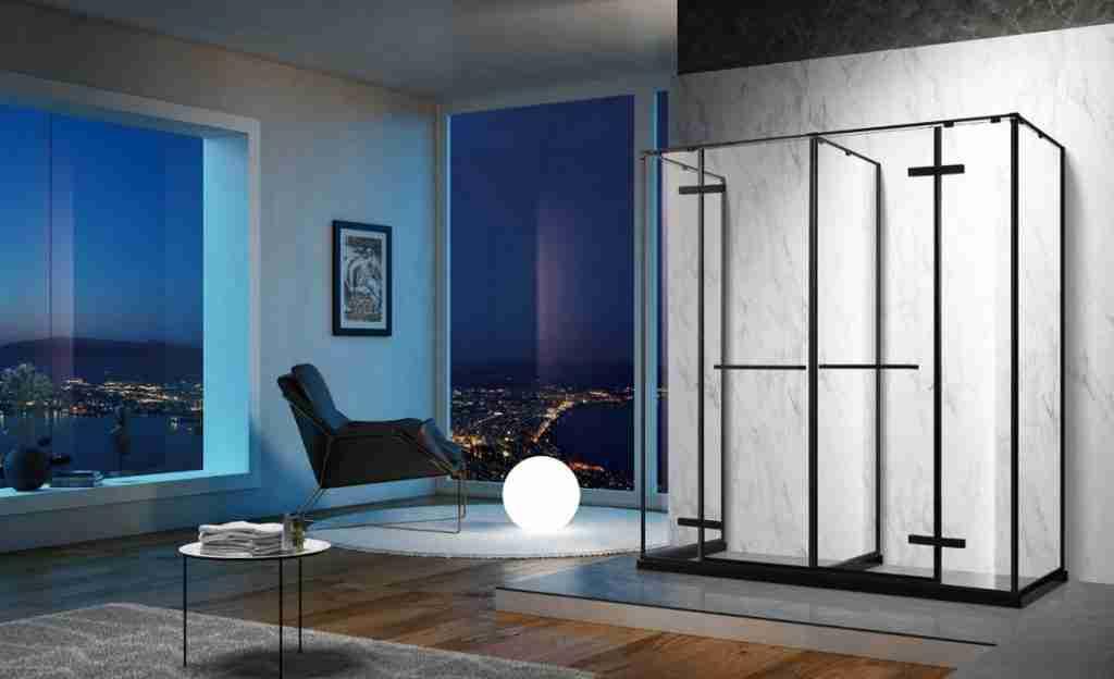 Good design spacey sense low iron glass shower door.