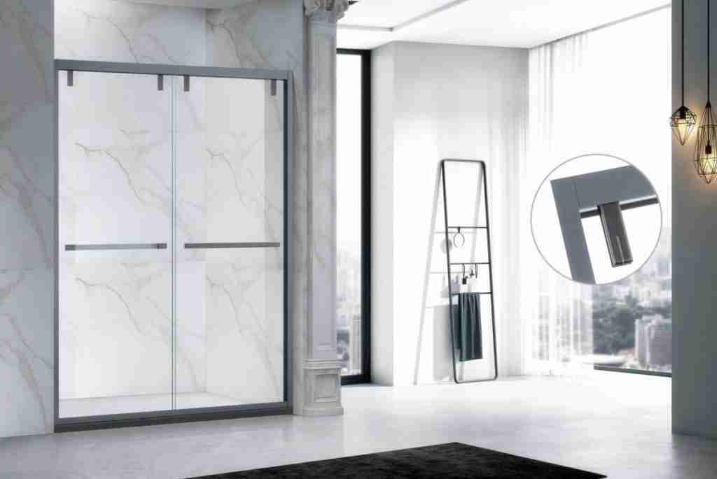 Super elegant sliding low iron glass shower door